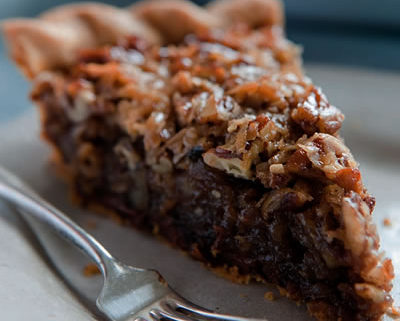 chocolate-pecan-pie-stock