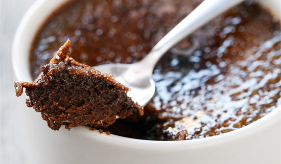 Chocolate Creme brulee stock